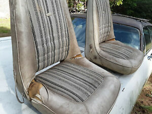 Dodge Mopar 71 77 Bucket Seats Trailduster Van B100 Sportsman W Tracks