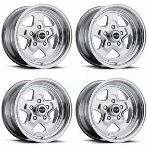 15x8 15x10 Vision 521h Nitro 5x5 5x127 0 0 Polished Wheels Rims Set 4