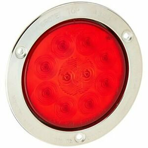 Grote 53302 Supernova Pattern Led Stop Tail Turn Lights 10 Diode Male Pin 4