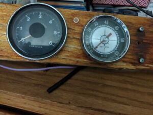 Vintage Chrysler Boat Tachometer And Aquameter Speedometer