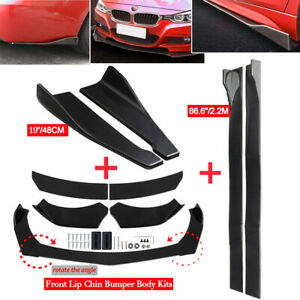 Universal Car Front Rear Bumper Lip Spoiler Splitter 86 Side Skirt Extension