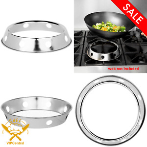 8 1 4 In Plated Stationary Steel Wok Ring For Steaming And Stir Fry Durable New