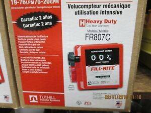 Fill rite tuthill Fr807c 3 4 5 20 Gpm Heavy Duty Mech Fuel Gas Meter