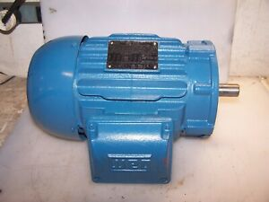 New Weg 1 5 Hp Ac Electric Motor 145tc Frame 208 230460 Vac 1755 Rpm Tefc