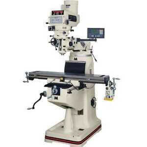 Jet 690400 Jtm 4vs Mill With 3 axis Acu rite 200s Dro Air Draw Bar