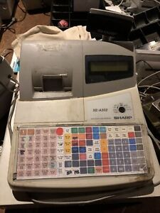 Sharp Electronic Cash Register model Xe a302 With Keys Draw