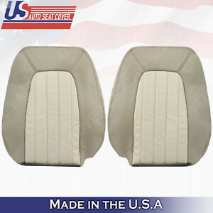 2002 To 2005 Mercury Mountaineer Driver Passenger Top Leather Seat Covers Tan
