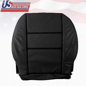 For 2008 To 2014 Mercedes Benz C250 C300 Driver Bottom Perf Leather Cover Black