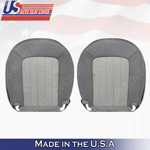 2002 2005 Mercury Mountaineer Driver Passenger Bottoms Leather Seat Cover Gray