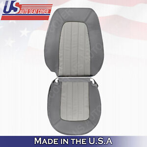2002 To 2005 Mercury Mountaineer Driver Top Bottom Perforated Leather Cover Gray