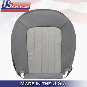 2002 To 2005 Mercury Mountaineer Passenger Bottom Leather Seat Cover 2 Tone Gray