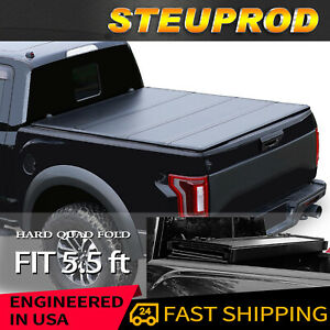 Tonneau Cover For 2007 2021 Toyota Tundra Truck Bed Hard Quad fold 5 5 Ft