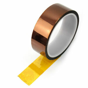 Golden High Temperature Heat Resistant Kapton Tape Tool 5mm Polyimide Z9t6