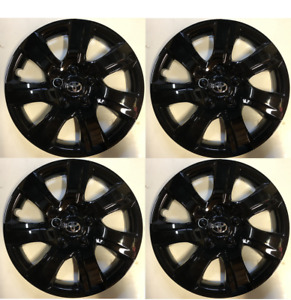 4 X Full Set Black 16 Hubcaps Fits Toyota Camry 2010 2011 Wheel Cover