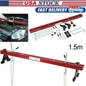Engine Load Leveler 1100lbs 500kg Capacity Support Bar W Dual Hook Support Un