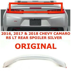 2016 2017 2018 Chevy Camaro Rs Lt Rear Spoiler Wing Silver 84157014