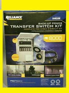 Reliance Back up Power Transfer Switch Kit up To 8 000 W Model 306lrk New