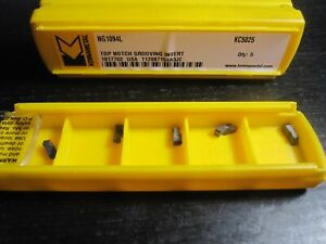 Kennametal Ng1094l Top Notch Indexable Carbide Inserts Grade Kc5025 1 Pack Of 5