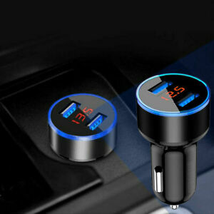 Universal 3 1a Usb Car Cigarette Phone Charger Lighter Digital Led Accessories