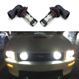 White 9145 H10 Led Fog Light Bulb For Ford Expedition 2000 2014 Escape 2013 2016