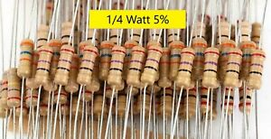 1 4w 5 Carbon Film Resistors qty 5 10 20 all Values ship Day Ordered mr Circuit