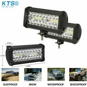 2x 7inch 800w Led Work Light Bar Flood Spot Combo Fog Lamp Offroad Driving Truck