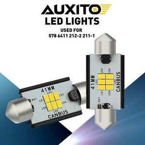 Auxito Led Ceiling Dome Light Bulbs Fit For Chevrolet 42mm 578 212 2 6000k 2pcs