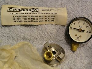 New Devilbiss Auto Paint Spray Gun Air Cap Test Factory Test Kit Kk 4962jgkv