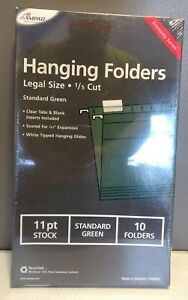 Ampad Hanging File Folders Legal Size Box Of 10 Green New
