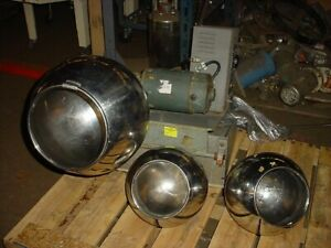 Stainless Steel Coating Pan With 16 And 12 Inch Bowls 115 Volt