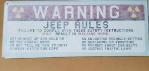 Offroad Rules Warning Stickers Funny Safety Instructions Labels Decals 4x4