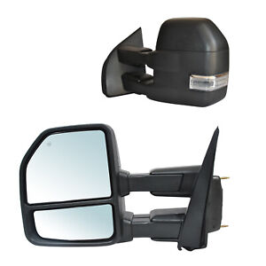 Towing Mirrors For 2019 2020 Ford F150 Pickup Power Heated Signal Temp Sensor