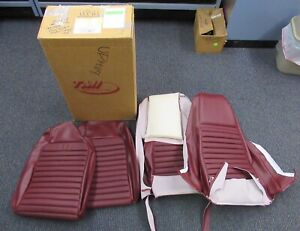 1969 Mustang Mach 1 New Tmi Deluxe Maroon Front Seat Upholstery