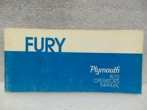Plymouth Fury 1972 Owners Manual 16342