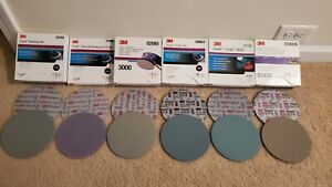 3m Trizact 6 Discs 1000 1500 3000 5000 6000 8000 1 Of Each 6 Total
