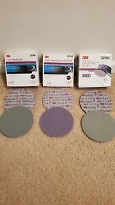 3m Trizact 6 Hookit Foam Discs 1000 1500 3000 1 sheet Of Each 3 Total