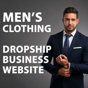 Men s Clothing Dropshipping Store Turnkey Website Business