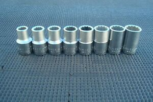 Nos Vintage Craftsman Ee Series Metric Socket Set 1 2 Drive Made In The Usa