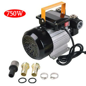 750w Self Priming Commercial Electric Oil Pump Transfer Fuel Diesel 16gpm 110v