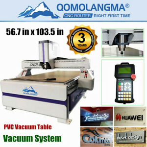 51 X 98 1325 Ad And Woodworking Cnc Router Machine 3kw Spindle vacuum Syatem
