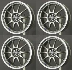 17x7 Enkei J10 4x100 114 3 42 Silver Paint Wheels Rims Set 4