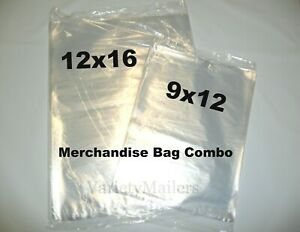 200 Clear Poly T shirt 9x12 12x16 1 Mil Apparel Plastic Bags