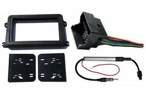 Radio Stereo Double Din Install Mount Dash Kit Wire Harness Antenna Adapter