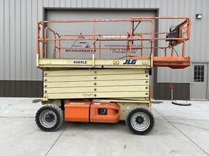 2008 Jlg 4069le Up 40 Electric Scissor Lift Aerial Platform Skyjack Genie Iowa