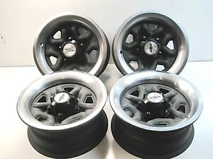 Set 4 14 X 6 Monte Carlo El Camino Rally Wheels 14 X 6 Caps Rings 1978 1988