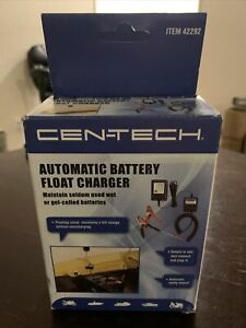 Centech 12 Volt Battery Charger Maintainer Tender Float Smart Charger New