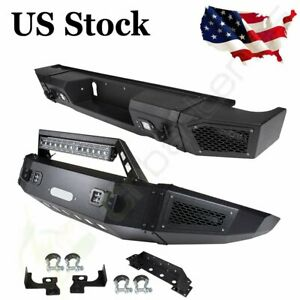 Offroad Rear Front Bumper Guard W Led Lights For Chevrolet Silverado 2500 15 17
