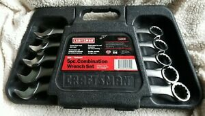Vintage Craftsman V Series 5pc Sae Jumbo Combination Wrench Set Made In Usa