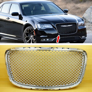 Overlay Front Grill Cover For Chrysler 300 300c Sedan Bentley Look Chrome 2019