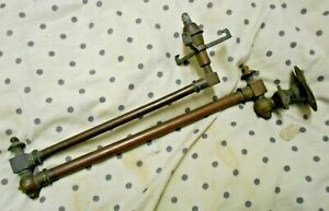Antique C1870 Victorian Swing Out Gas Wall Light Copper Brass